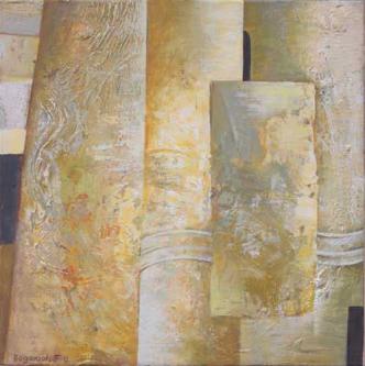 Without title   2007   Mixed media on canvas   40x40cm  © Oleg Bogomolov