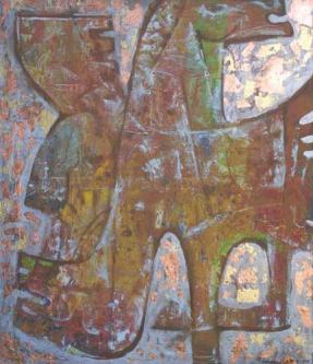 Pegasus I   2005   Mixed media on canvas   120x140cm   © Oleg Bogomolov