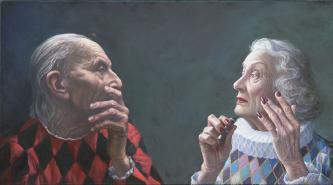 Lovers | 2020 | oil-on-canvas | 70X110 cm | © Oleg Bogomolov