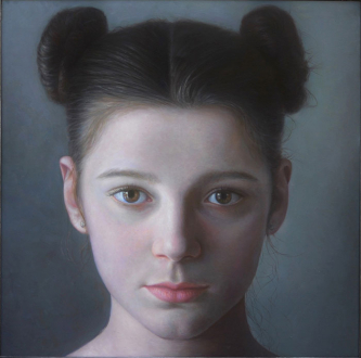 Lauretta XI | 2017 | Oil-on-canvas | 100x100 cm | © Oleg Bogomolov