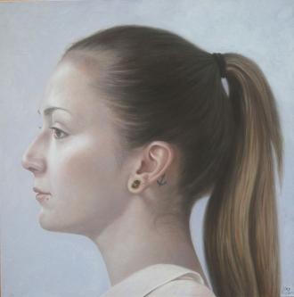 Julia Leila | 2014 | Oil on canvas | 80x80 cm | © Oleg Bogomolov
