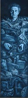 Messie | 2013 | Oil on wood | 43x155 cm | © Oleg Bogomolov