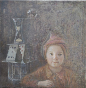 Silence | 2012 | Mixed media on canvas | 50x50 cm | © Oleg Bogomolov