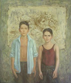 Boys | 2008 | Oil on canvas| 105x124 cm | © Oleg Bogomolov