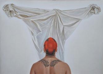 Postscriptum | 2012 | Mixed media on canvas | 110x150 cm | © Oleg Bogomolov | SOLD